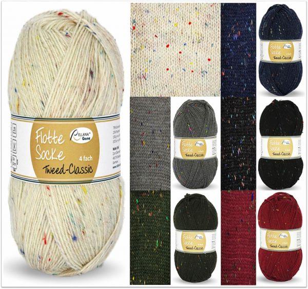 Rellana Flotte Socke Tweed Classic, 100g Sockenwolle 4-fach