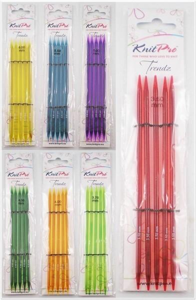 Knit Pro Trendz Nadelspiel 15cm lang aus Acryl in verschiedenen Stärken