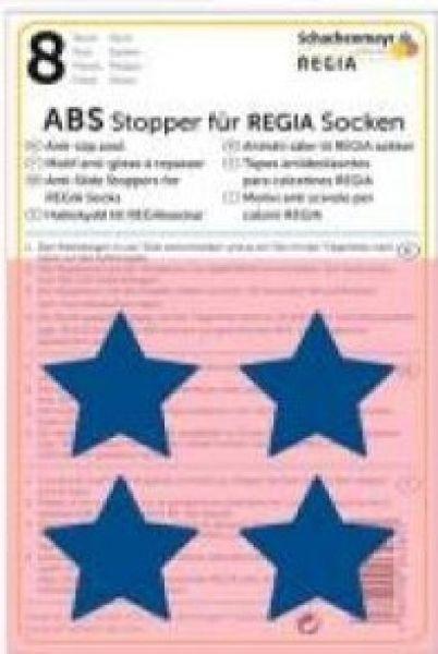 ABS-Stopper blaue Sterne für Regia Socken