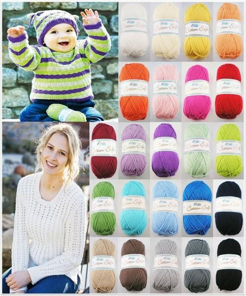Rellana Cotton Soft, 50g Ganzjahresgarn