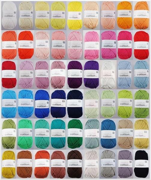 Rico Design Creative Cotton Aran, 50g Baumwollgarn
