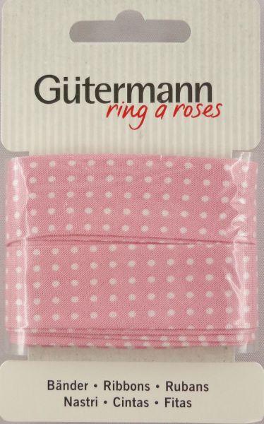 Bänder rosa mit weißen Punkten 650277 Col.660