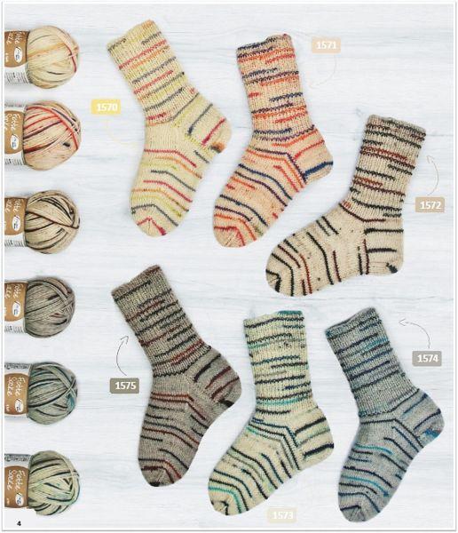 Flotte Socke Natura, 100g Sockenwolle 4-fach