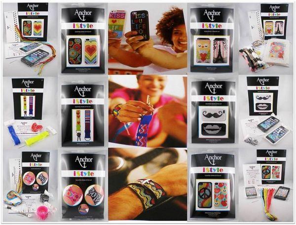 Anchor iStyle Counted Cross Stitch für Kit Handy Hüllen Schlüsselanhänger Armbänder