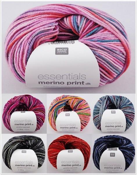 Rico Design Essentials Merino Print dk, 50g Merinogarn
