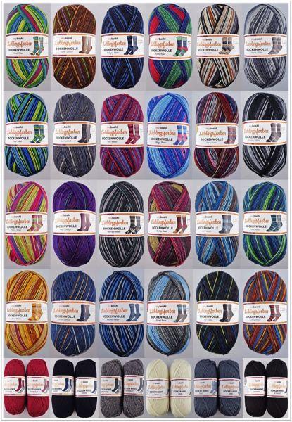 100g My Boshi Lieblingsfarben Sockenwoll-Familien