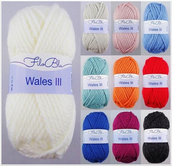 Filo Blu Wales III, 50g Schnellstrickgarn