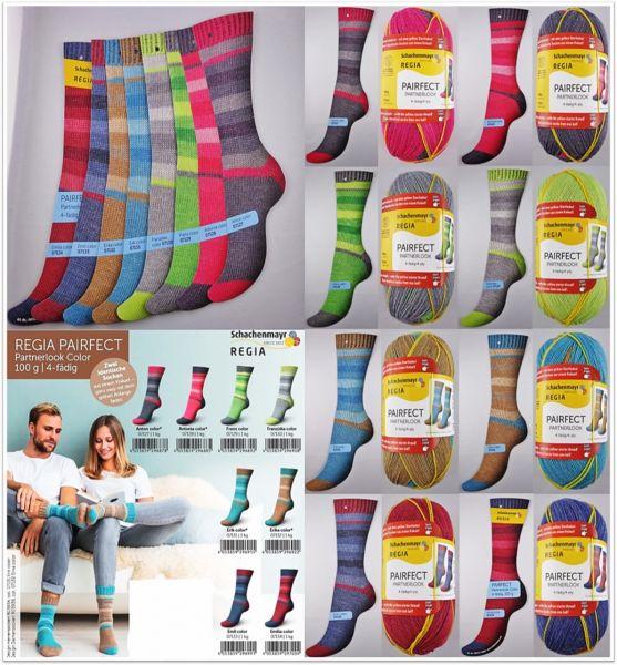 Regia Pairfect Partnerlook Color 4-fach, 100g Sockenwolle