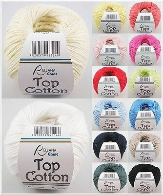 Rellana Top Cotton, 50g glänzendes Baumwollgarn