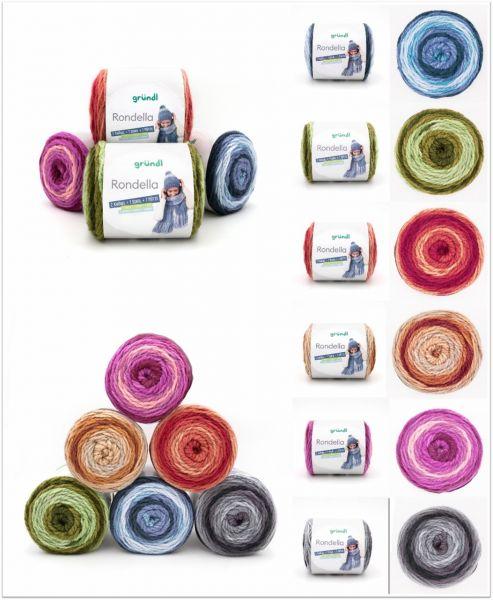Gründl Rondella, 250g dicke Bobbelwolle mit Farbverlauf