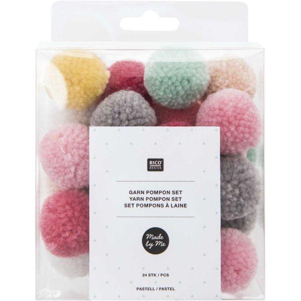 Rico Garnpompon Set Pastell Mix (No. 08758.00.42)