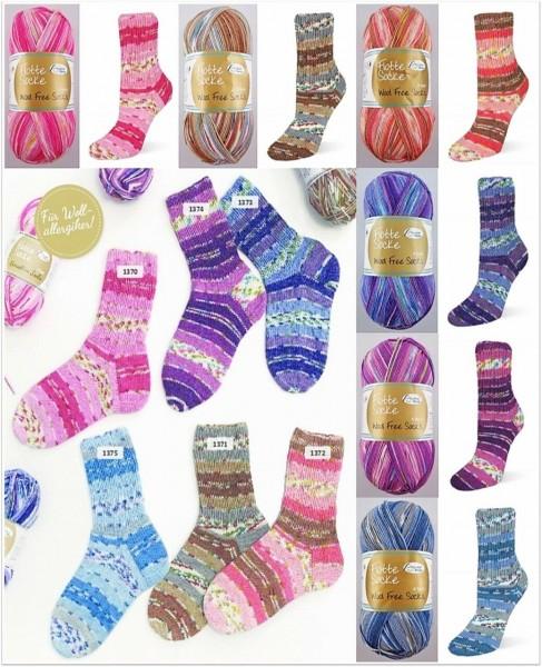 Rellana Flotte Socke Wool Free Socks, 100g Sockenwolle 4-fach