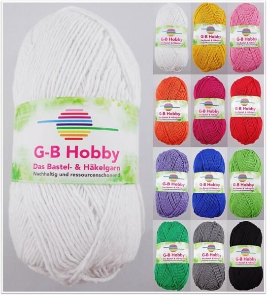 G-B Hobby, 100g Bastel- & Häkelgarn aus Faserrecycling