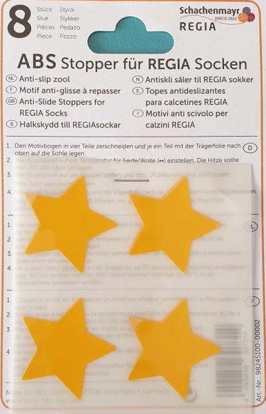 ABS-Stopper gelbe Sterne für Regia Socken