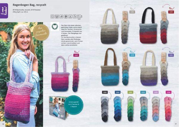 Rellana Regenbogen Bag recycelt, 250g Zopf