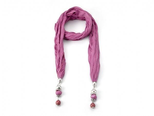 Schal - Halstuch - dunkel-rosa 52067