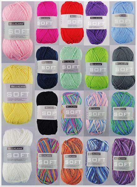 BellaLana Soft & Soft Color, 50g Ganzjahresgarn