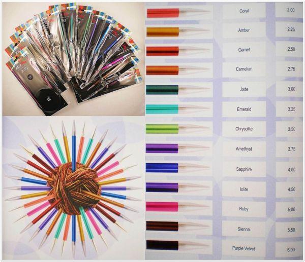 Knit Pro Zing Rundstricknadeln 100cm Länge aus Aluminium in verschiedenen Stärken