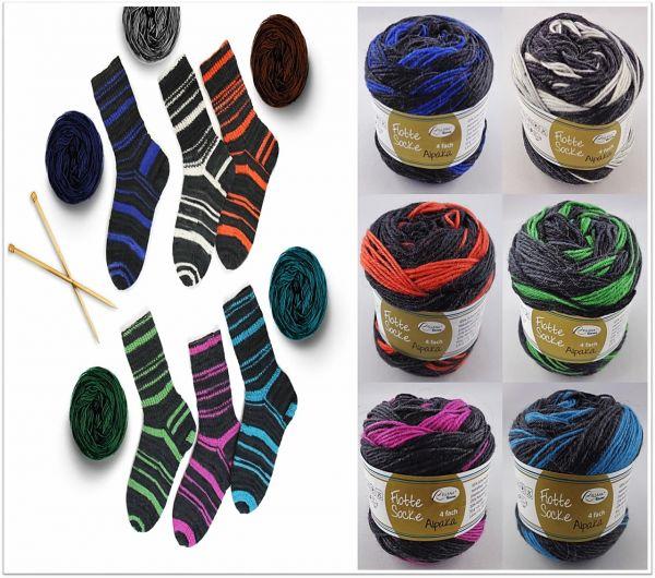 Rellana Flotte Socke Alpaka, 50g Sockenwolle 4-fach