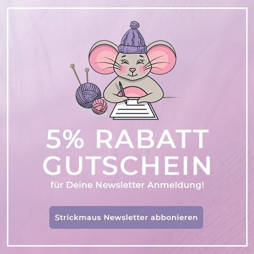 Strickmaus Newsletter Gutschein
