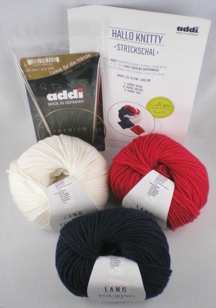 addi Hallo Knitty Strickschal-Set