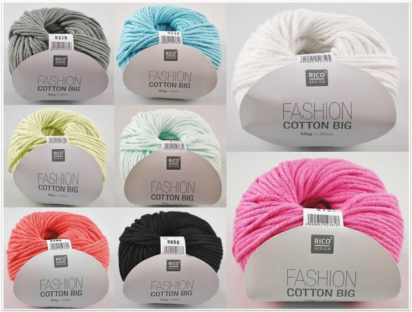 Rico Design Fashion Cotton Big, 50g Baumwollgarn