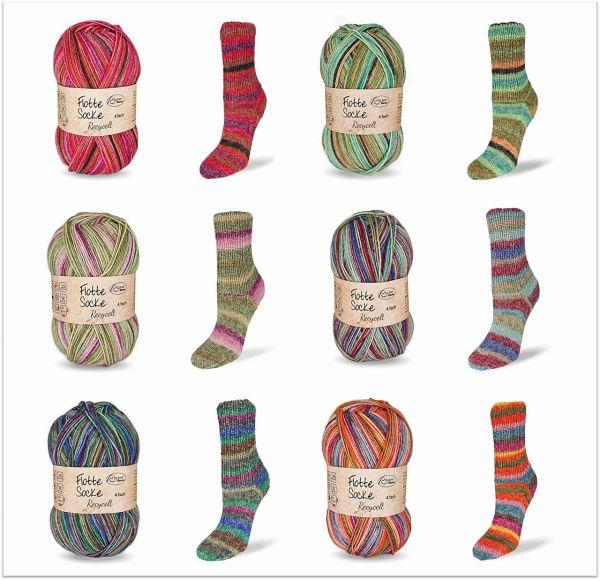 Flotte Socke Recycelt 4-fach, 100g Sockenwolle