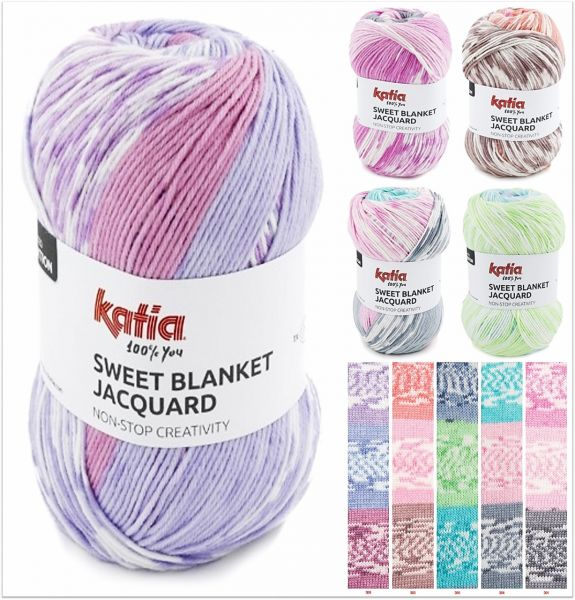Katia Sweet Blanket Jacquard, 200g Farbverlaufsgarn