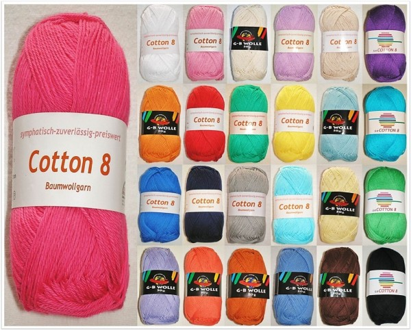 G-B Cotton 8, 50g Baumwollgarn