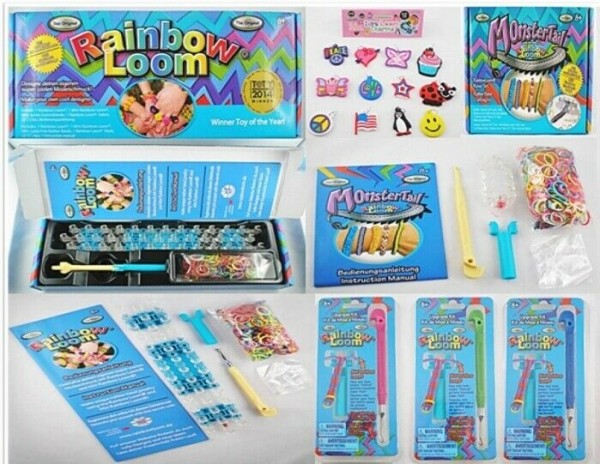 Original Rainbow Loom Starter Set, Reise-Set, Monster Tail, Party Set Finger Loom