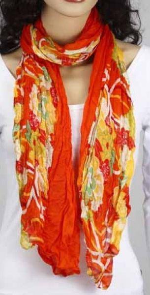 Schal - orange-gelb-grün 356-13