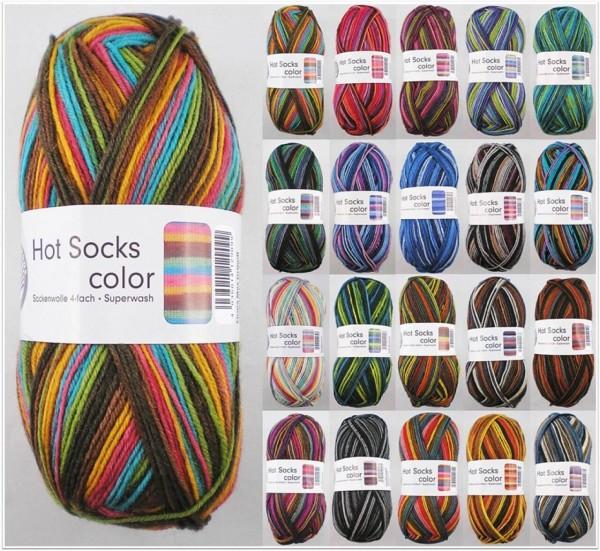 Gründl Hot Socks Color, 50g Sockenwolle 4-fach