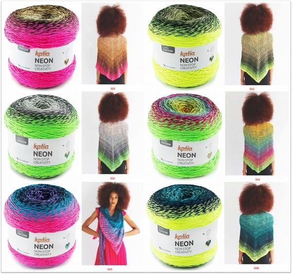 Katia Neon, 200g Bobbelwolle mit Farbverlauf