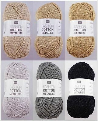 Rico Design Fashion Cotton Métallisé, 50g Glitzergarn