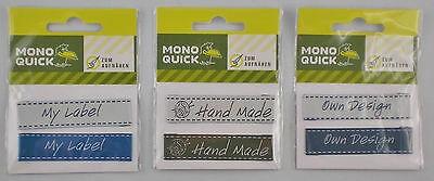Mono Quick Label-Set zum Aufnähen / Annähen als Accessoire