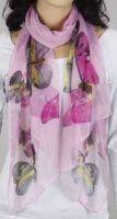 Schal - rosa mit Schmetterling 347-22