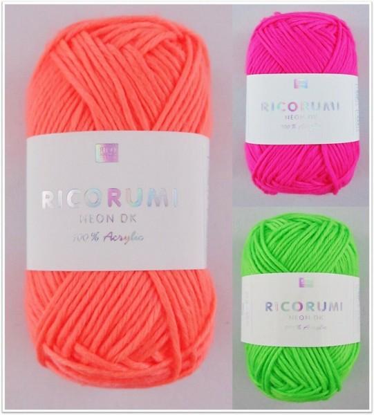 Ricorumi Neon dk, 25g Polyacrylgarn