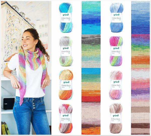 Gründl Cotton Quick Batik, 100g Farbverlaufsgarn