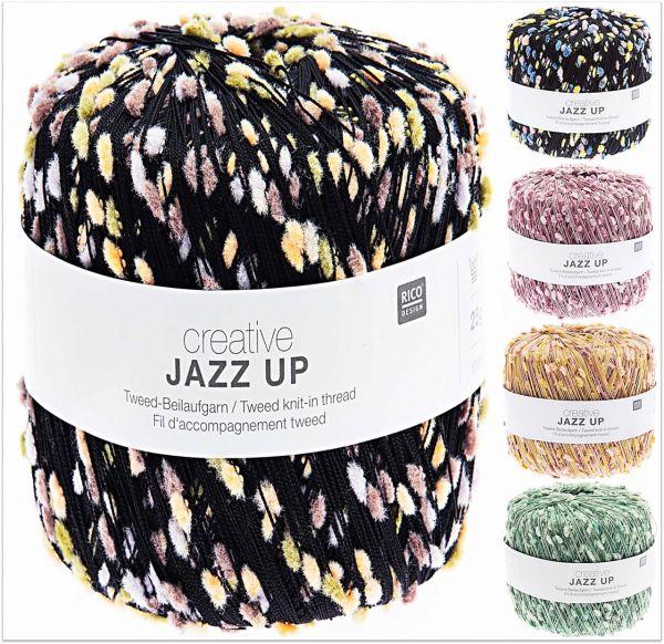 Rico Creative Jazz Up Tweed-Beilaufgarn, 25g Effekt-Beilaufgarn