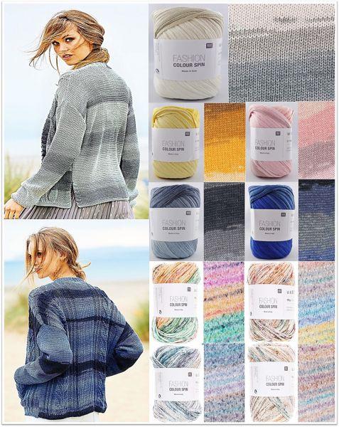 Rico Fashion Colour Spin, 100g Bändchengarn