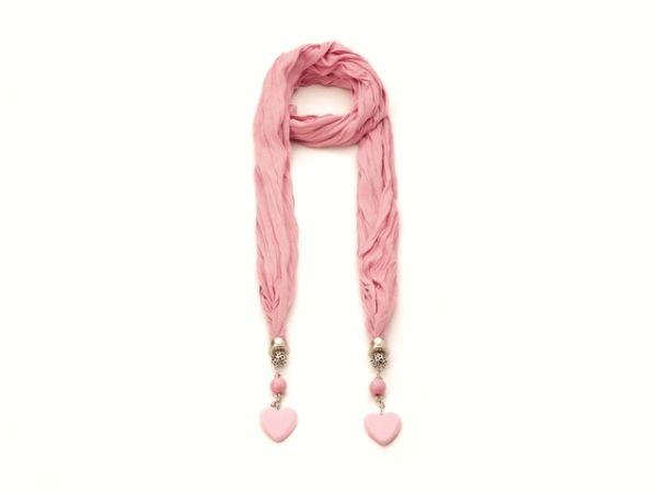 Schal - Halstuch - rosa 52276