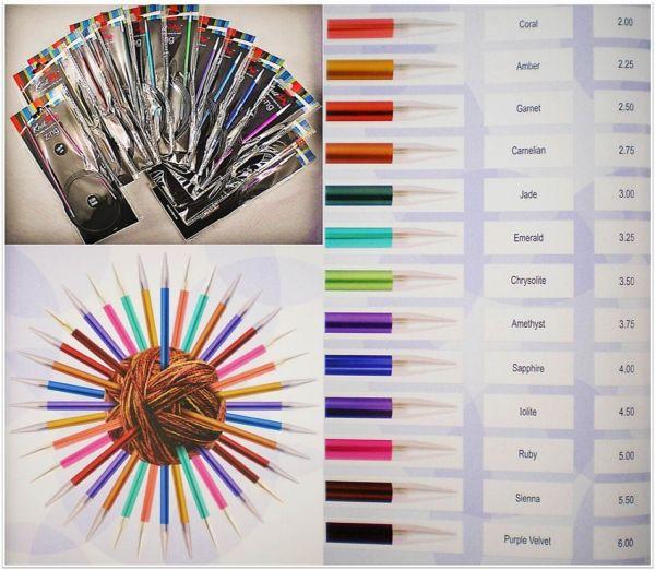 Knit Pro Zing Rundstricknadeln 150cm Länge aus Aluminium in verschiedenen Stärken
