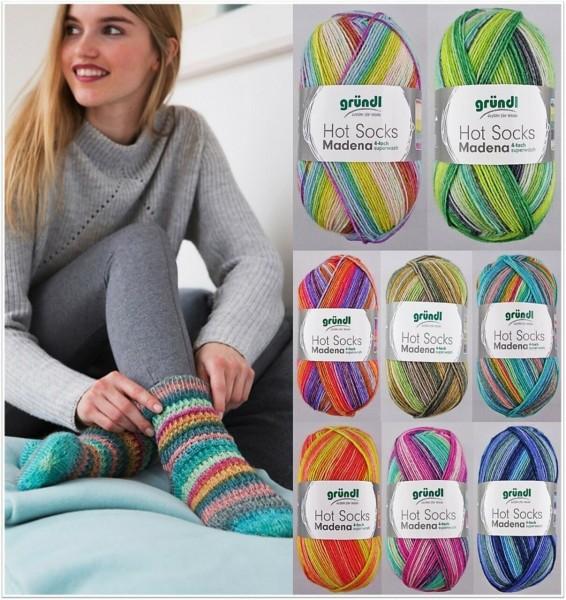 Gründl Hot Socks Madena, 100g Sockenwolle 4-fach