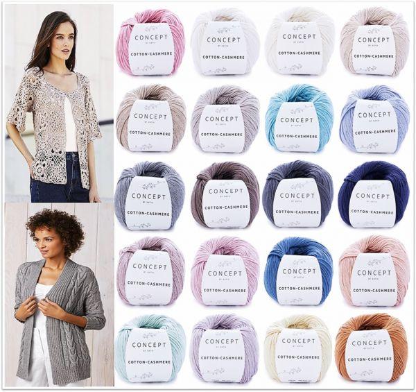 Katia Concept Cotton Cashmere, 50g-Knäuel