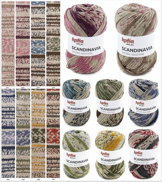 Katia Scandinavia, 100g Farbverlaufsgarn