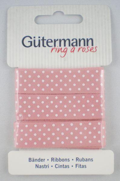 Bänder rosa mit weißen Punkten 650331 Col.660