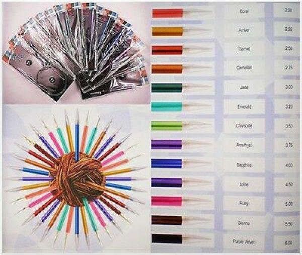 Knit Pro Zing Rundstricknadeln 80cm Länge aus Aluminium in verschiedenen Stärken