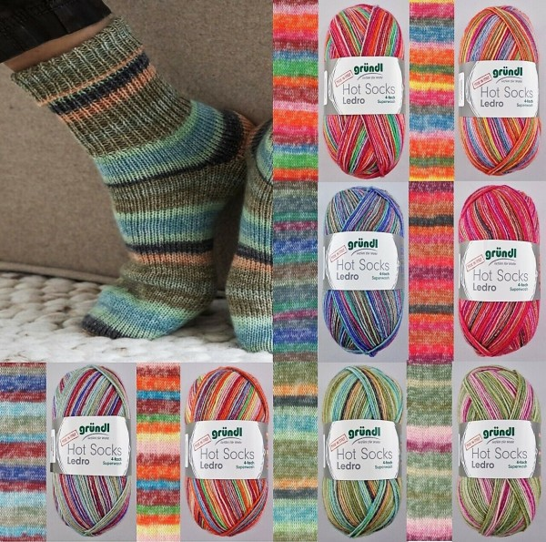 Gründl Hot Socks Ledro, 100g Sockenwolle 4-fach