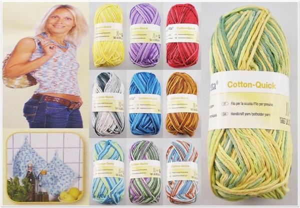 Zettl Cotton Quick Print, 50g Baumwollgarn