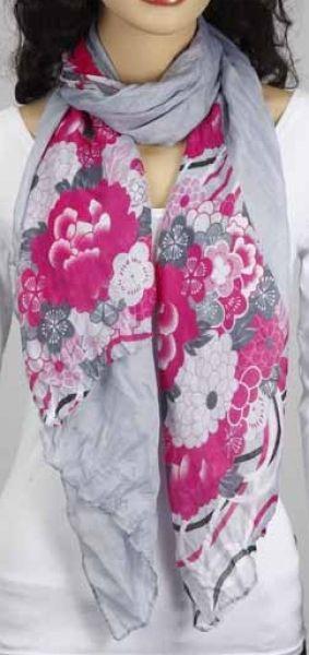 Schal - grau-pink 356-03